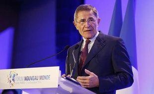 Gérard Mestrallet, Pdg de GDF Suez à Paris, le 8 octobre 2014