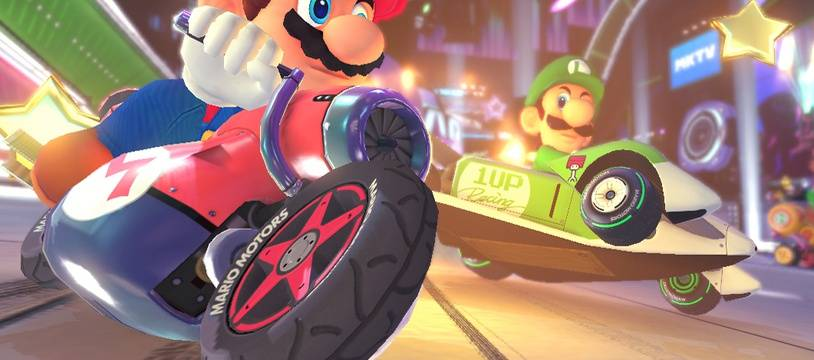 "Illustration du jeu vidéo ""Mario Kart 8""."