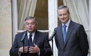 """Les """"centristes ont toute leur place dans le gouvernement"""", a affirmé lundi Bruno Le Maire, reconduit à la tête du ministère de l'Agriculture, lors de la passation de pouvoir avec le centriste Michel Mercier qui lui a transmis le portefeuille de l'Aménagement du territoire."""