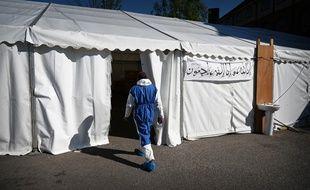 En Grande-Bretagne, une morgue a été installée à proximité d'une mosquée.