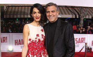 Amal et George Clooney à l'avant-première de Ave, César!
