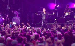 Johnny Hallyday en concert à Namur, en Belgique,