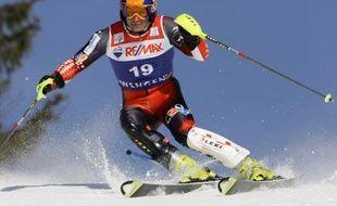 Le skieur croate Ivica Kostelic, lors du super-combiné de Wengen, le 16 janvier 2009.