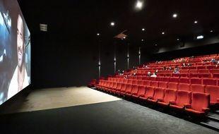Une salle de cinéma niçoise en mai 2021