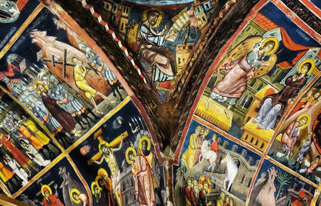 L'église byzantine d'Agios Loannis Lambadistis abrite des fresques d'une extraordinaire richesse.