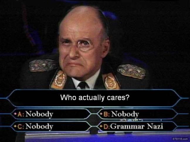 Les Grammar Nazis aiment les jeux télé