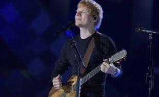 Le chanteur anglais Ed Sheeran lors la partie française du Global Citizen Live au Champ de Mars à Paris. 25/09/2021.