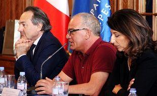 Ivano, au centre, pendant un séminaire sur la radicalisation des jeunes, mercredi à Nice.