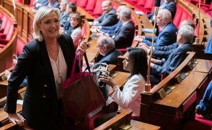 Marine Le Pen à l'Assemblée nationale (illustration).