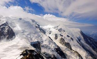 Le massif du Mont-Blanc, le 29 juillet 2020.