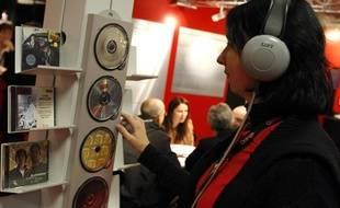 Au Midem,le marché international de la musique, le 18 janvier 2009 à Cannes.