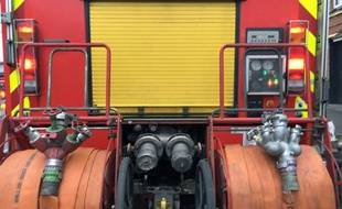 Illustration d'un camion de pompiers.