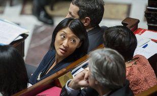 La ministre de la Culture, Fleur Pellerin, le 17 septembre 2014, à l'Assemblée nationale, à Paris.