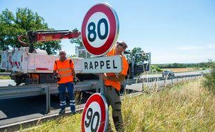 Depuis le 1er juillet 2018, la vitesse est limitée à 80 km/h sur les routes secondaires.