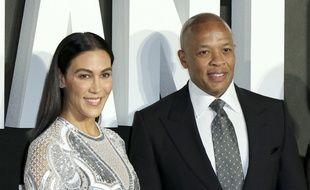 Le rappeur Dr Dre et sa femme Nicole Young