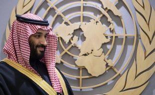 Photo officielle du prince Mohammed Ben Salmane dans les locaux de l'ONU.