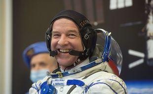L'astronaute américain Jeff Williams à Baïkonour, le 4 mars 2016.