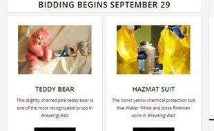 La vente aux enchères en ligne des objets Breaking Bad s'ouvre ce dimanche 29 septembre