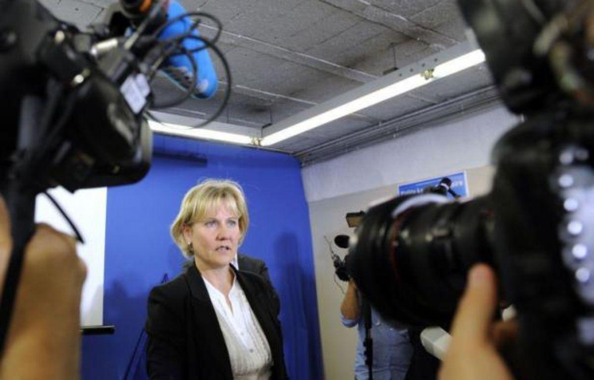 L'ex-ministre de l'Apprentissage, Nadine Morano (UMP), a reconnu dimanche soir sa défaite à l'issue du second tour des élections législatives dans la 5e circonscription de Meurthe-et-Moselle. – Jean-Christophe Verhaegen afp.com