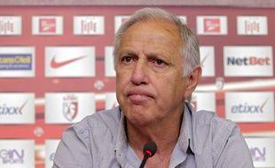 L'entraîneur lillois René Girard le 1er juillet 2014.