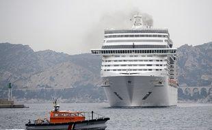 Un navire MSC Splendida dans lequel voyageaient 17 des 21 personnes tuées dans l'attaque à Tunis.