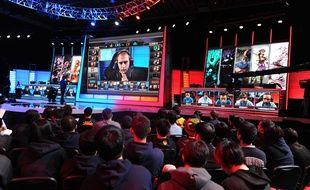 Une partie de League of Legends aux Etats-Unis en 2014.