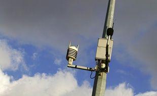 Lille, le 19 février 2012. Des capteurs de pollution atmosphérique à Lille.