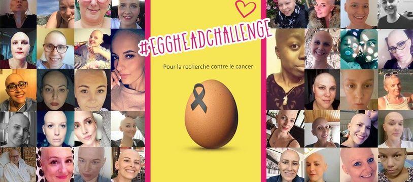 Des femmes atteintes d'un cancer ont posté leur photo et lancé le #EggHeadChallenge.