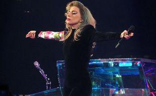 Lady Gaga pendant son conceert à Birmingham, le 31 janvier 2018.