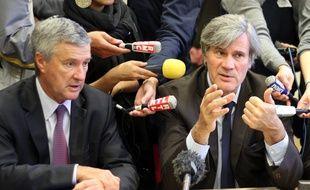 Stéphane Le Foll ici aux côtés du préfet de région Bretagne Patrick Strzoda en 2013 lors de la présentation du pacte d'avenir pour la Bretagne.