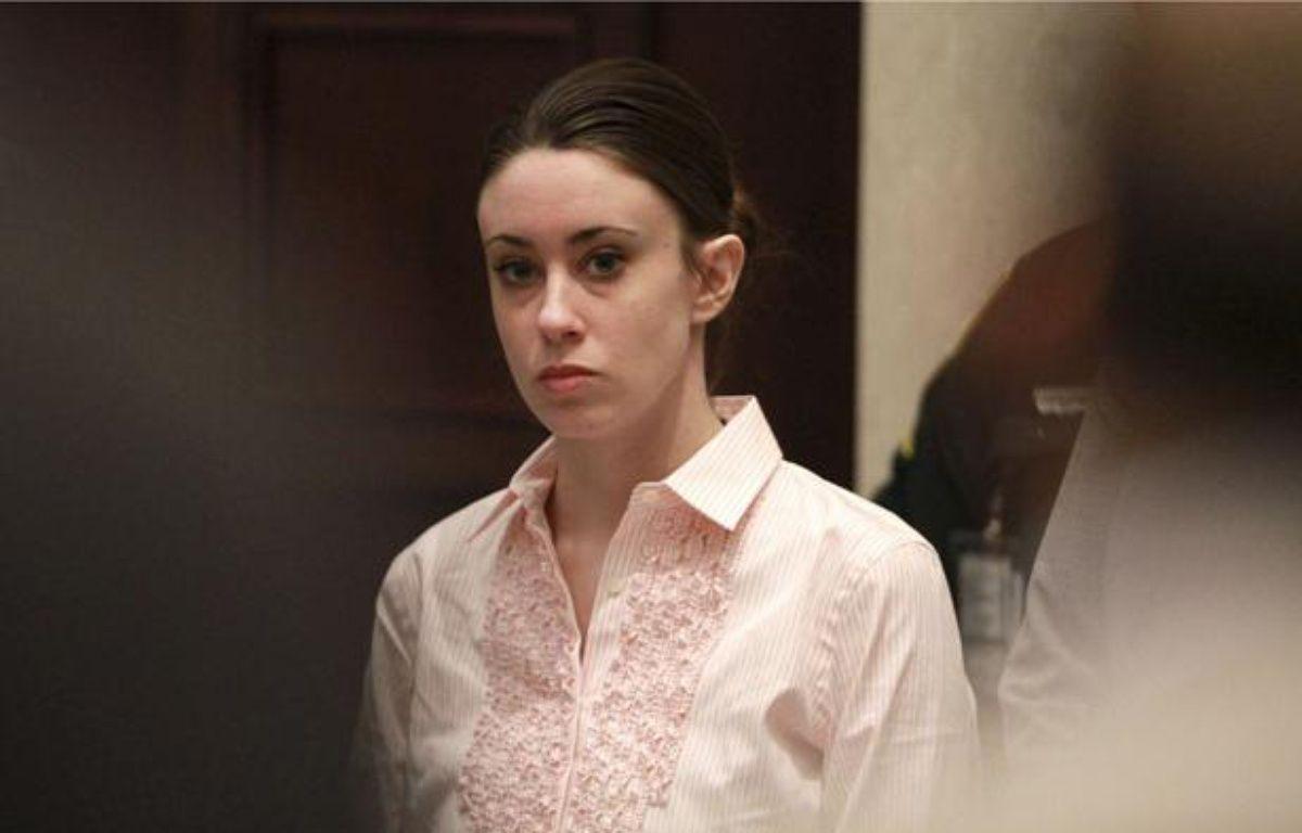 Casey Anthony, accusée du meurtre de sa fille de 2 ans, Caley, le jour de son acquittement au tribunal d'Orlando en Floride, le 5 juillet 2011. – Joe Burbank/AP/SIPA