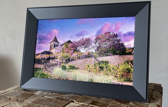 La qualité d'affichage du cadre photo Carver d'Aura Frames est un atout.