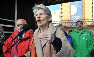 La secrétaire générale sortante de la Confédération européenne des syndicats Bernadette Segol le 14 novembre 2012 à Bruxelles