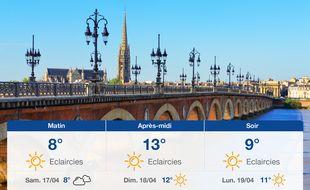 Météo Bordeaux: Prévisions du vendredi 16 avril 2021