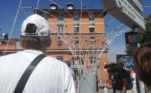 L'installation de la première canopée à Toulouse, le 29 août 2019.