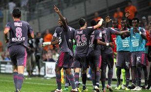 Les Rennais après avoir marqué face à Marseille, le 10 septembre 2011