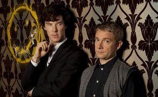 "Sherlock Holmes (Benedict Cumberbatch) et Docteur Watson (Martin Freeman), dans la série ""Sherlock""."