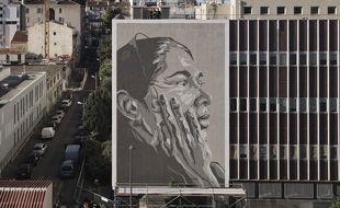 Réalisé par Mahn Kloix, ce visage de Tursunay Ziawudun, est un hommage à la résistance des Ouïghours