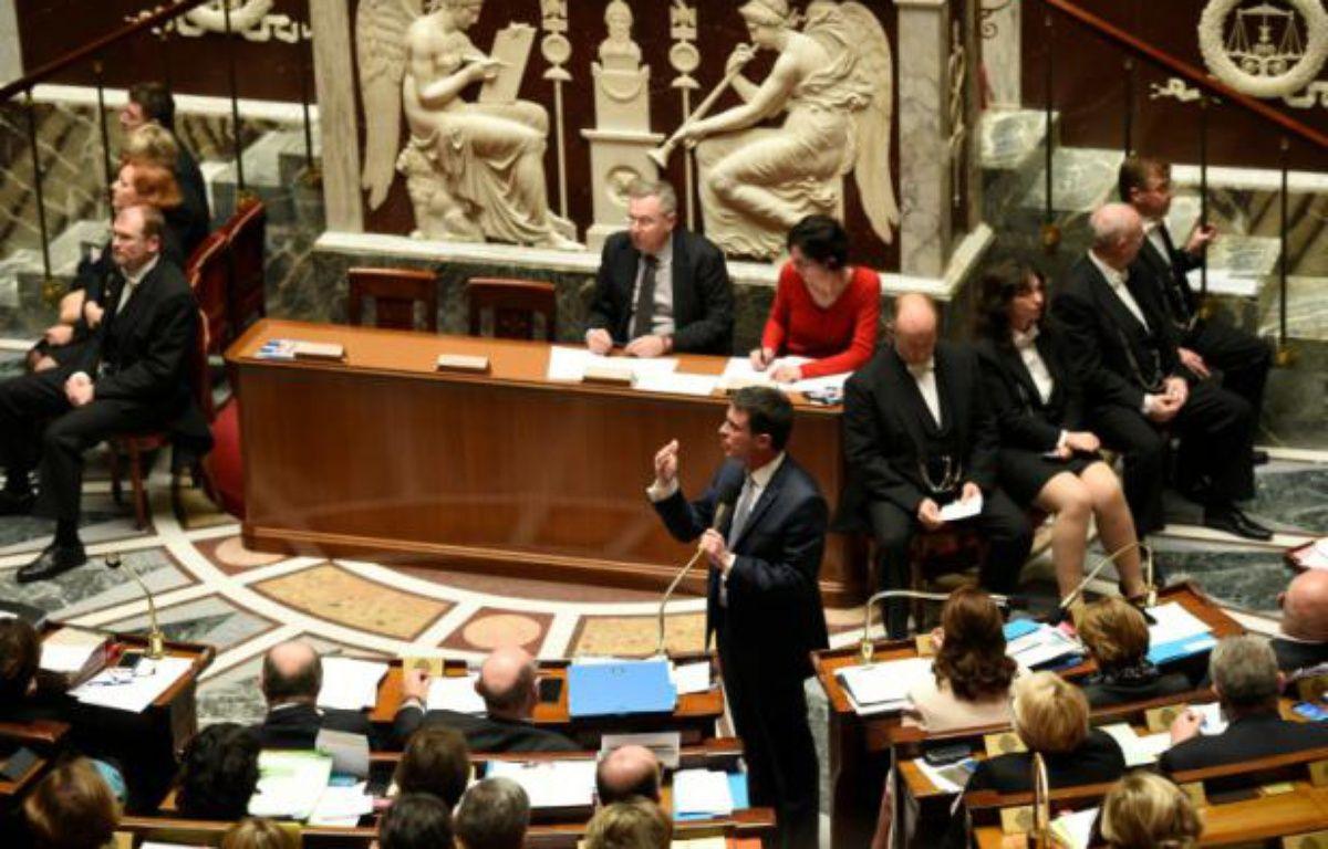 Le Premier ministre Manuel Valls à l'Assemblée nationale, à Paris, le 15 décembre 2015 – ERIC FEFERBERG AFP