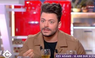 Kev Adams sur le plateau de « C à vous », lundi 25 mars 2019.