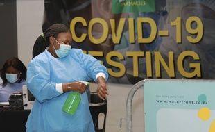 Un centre pour tester le Covid-19, au Cap en Afrique du Sud le 8 janvier 2021.