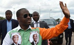Guillaume Soro, président de l'Assemblée nationale de Côte d'Ivoire, le 9 octobre 2015 à Yamoussoukro