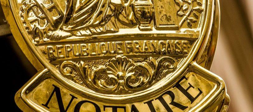 Un emblème de notaire à Lille (image d'illustration).