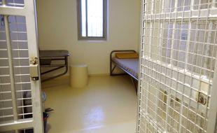 Une cellule de la prison de Béziers.