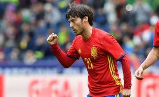 L'attaquant de l'Espagne David Silva, le 1er juin 2016.