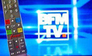 Accord entre Altice et Iliad pour la diffusion de BFMTV sur Free (Illustration)