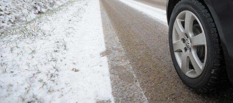 Neige et routes dans Strasbourg et alentours le 14 01 2009