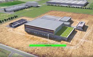 Le futur site de production de LFB près d'Arras.