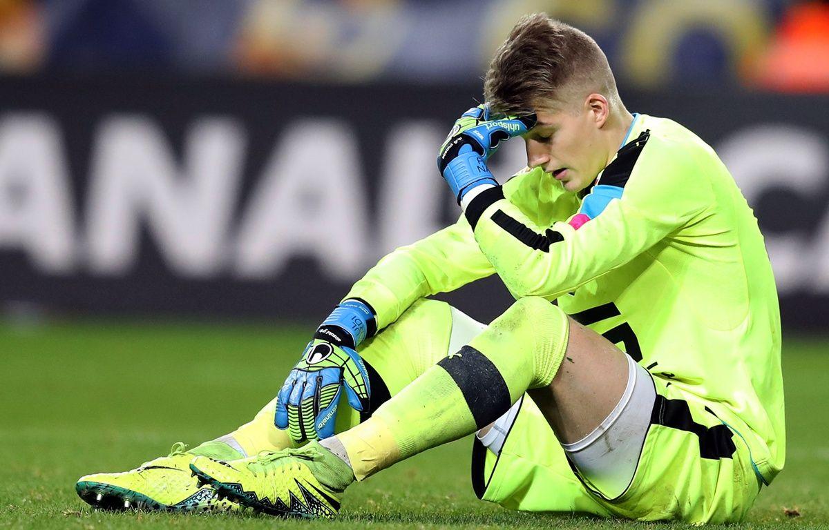 L'ex-gardien rennais Paul Nardi aura vécu l'une des pires soirées de sa jeune carrière à Monaco, le 14 décembre 2016. – V. Hache / AFP