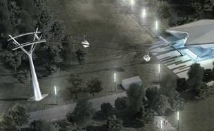 L'aérotram, projet de téléphérique toulousain entre l'Université Paul-Sabatier et l'Oncopôle.